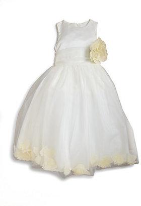 Us Angels Toddler's & Little Girl's Satin & Tulle Rose Petal Dress