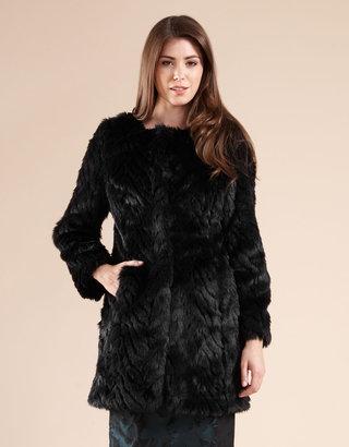 Monsoon Philippa Faux Fur Coat