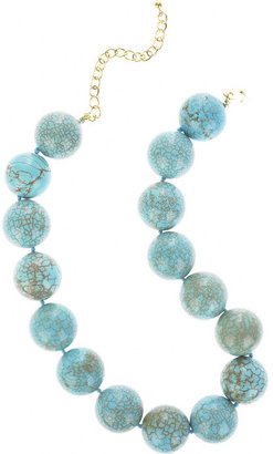 Kenneth Jay Lane Turquoise resin necklace
