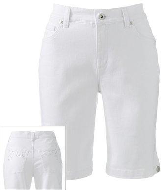 Gloria Vanderbilt amanda color denim bermuda shorts - petite