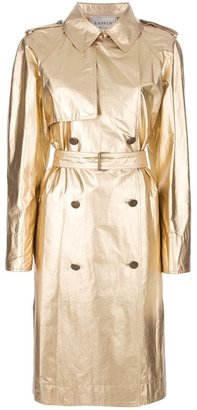 Lanvin metallic trench coat