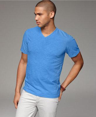 INC International Concepts T Shirt, Core Slub V Neck Tee Shirt