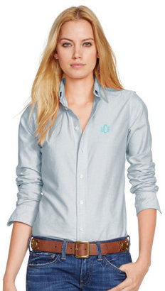 Personalization Custom-Fit Oxford Shirt $98.50 thestylecure.com