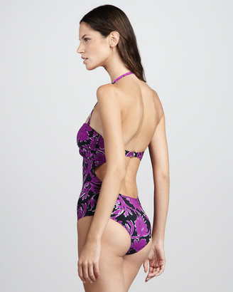 Tory Burch Majorca Halter Maillot Swimsuit