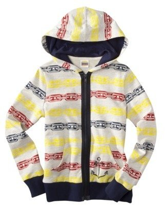 Harajuku Lovers Mini for Target® Girls Long-Sleeve Anchor Zip-Up Hoodie - Cream
