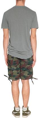 James Perse Silverfox Short Sleeve V-Neck Cotton T-Shirt