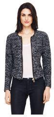 Club Monaco Bria Knit Leather Trim Jacket