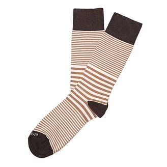 Etiquette Clothiers - Sailor Stripe Socks - Marrone