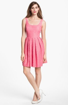 Donna Morgan Lace Fit & Flare Dress
