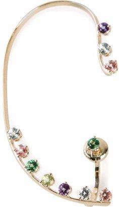Delfina Delettrez multicolour dots earring