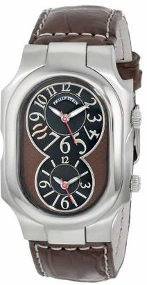 Philip Stein Teslar Unisex 2-BRN-ASDBR Signature Stainless Steel Watch With Brown Leather Band
