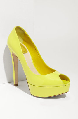 Christian Dior 'Miss Dior' Peep Toe Platform Pump