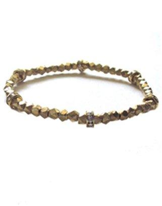 Bijouterie Jewelry Pyrite Gold Bracelet