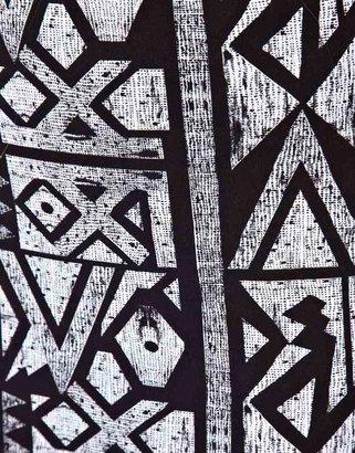 Asos Exclusive Maxi Skirt In Geo-Tribal Print