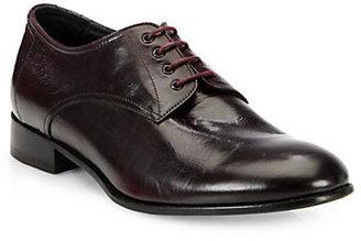 Giorgio Armani Distressed Leather Lace-Ups Oxfords