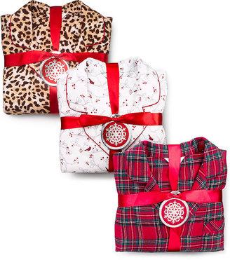 Charter Club Holiday Lane Flannel Top and Pajama Pants Set