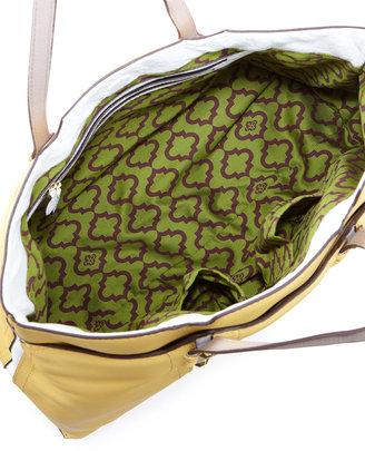 Oryany Gigi Color Stripe Tote Bag, Custard