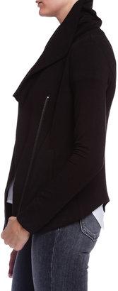 Helmut Lang Villous Zip Up Sweatshirt