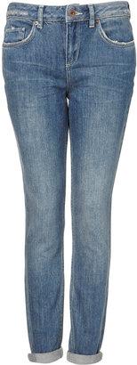 Topshop MOTO Dirty Vintage Wash Slim Jeans