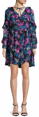Laundry by Shelli Segal Floral Georgette Dress