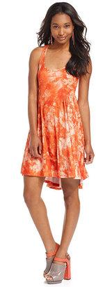 Eyeshadow Juniors Dress, Racerback Tie-Dye Skater