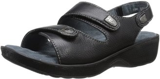 SoftWalk womens Bolivia Sandal Black Tumbled Glove Leather 6 N (AA)