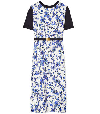 Tory Burch Greer Floral Print Dress