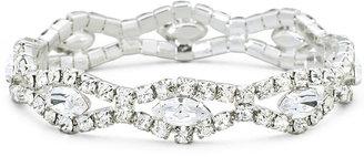 VIESTE ROSA Vieste Rhinestone Silver-Tone Stretch Bracelet