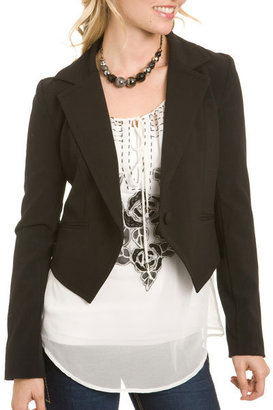 Windsor Cropped Tuxedo-Style Jacket