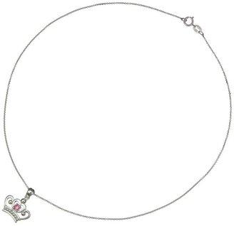 Disney Diamonique Sterling Princess Tiara Pendant with Chain