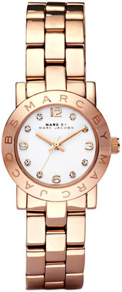 Marc by Marc Jacobs Watch, Women's Mini Amy Rose Gold-Tone Stainless Steel Bracelet 26mm MBM3078 $200 thestylecure.com