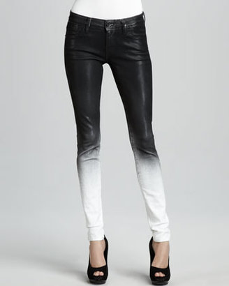 Elon Sinclair Ghostwind Spray-Coat Skinny Jeans