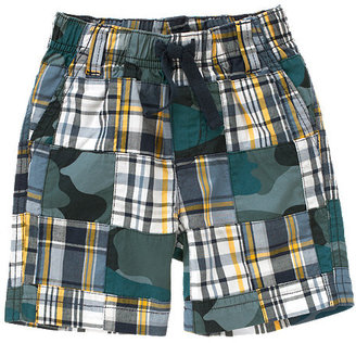 Camo Plaid Patchwork Short