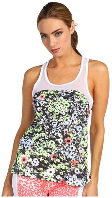 adidas by Stella McCartney Weekender Graphic Tank (White/Diffused Ink/Turbo) - Apparel