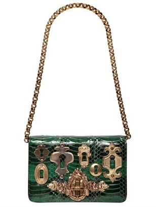 Dolce & Gabbana Ginevra Snakeskin Clutch