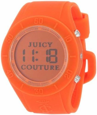 Juicy Couture Women's 1900883 Sport Couture Digital Orange Jelly Strap Watch $59 thestylecure.com