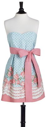 Jessie Steele Bows And Roses Strapless Bib Apron