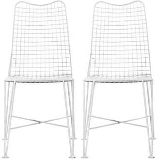 Fab Glenny Chair White Set Of 2