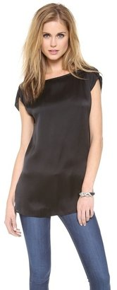 Alice + Olivia AIR by Boat Neck Roll Sleeve Tunic