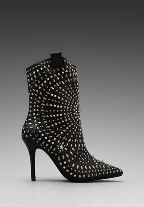 Jeffrey Campbell Embellished Ankle boot in Black/Silver