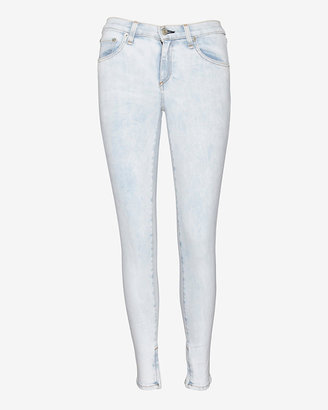 Rag and Bone Exclusive Bleached Ankle Zip Skinny