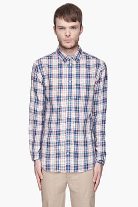 Carven Pink and blue Plaid linen Shirt