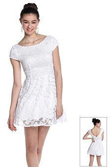 Bee Darlin' Juniors' Lace Skater Dress