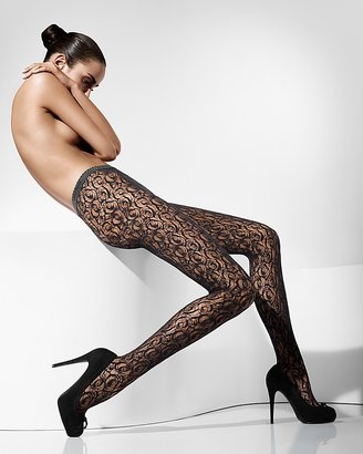 """Wolford Lace Garden"""" Tights"""