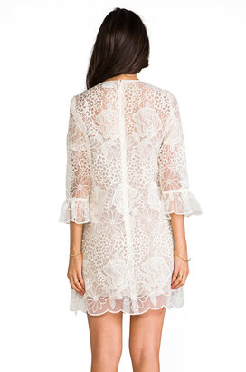 Anna Sui Floral Embroidered Dress