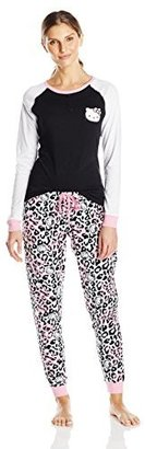Hello Kitty Women's Fair Isle-Print Pajama Set $60 thestylecure.com
