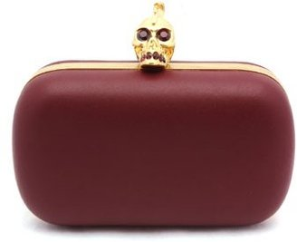 "Alexander McQueen Punk Baroc"" Red Leather Skull Box Clutch"