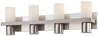Eurofase Pillar Collection 8-Light Brushed Nickel Bath Bar Light