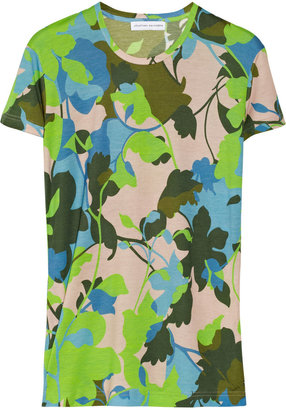 Jonathan Saunders Floral-print modal-jersey T-shirt