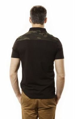 Ecko Unlimited Darwin Camouflage Panel Polo Shirt